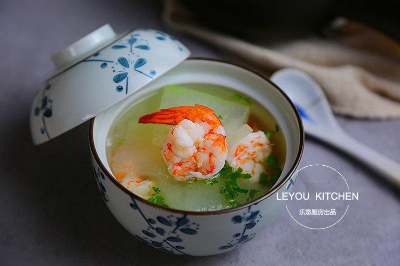 冬瓜虾仁汤,操作简单、鲜味十足,怎么喝也不胖