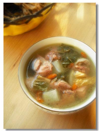 【双蛋】酸萝卜白菜干老鸭汤:寒冬的一碗开胃汤