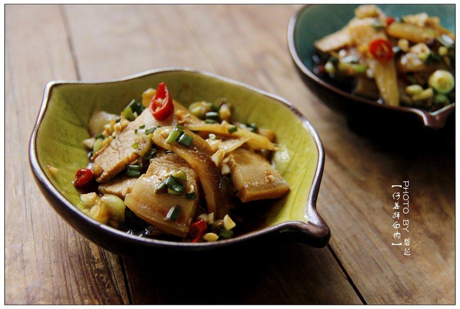 仔姜拌白肉:苦夏肉菜这么吃,香辣开胃