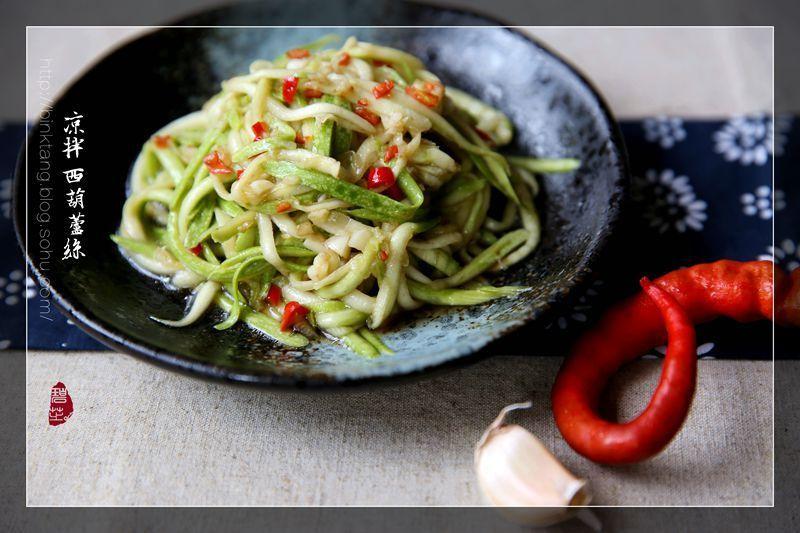凉拌西葫芦丝:成本一块钱!不用煮,不用炒的快手开胃凉拌菜