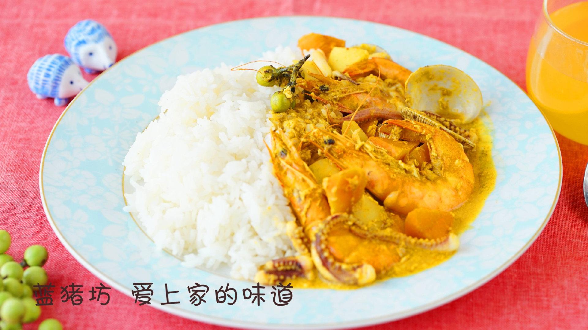 一分钟学会泰式咖喱海鲜饭,五分钟搞定,值得炫耀的单身菜