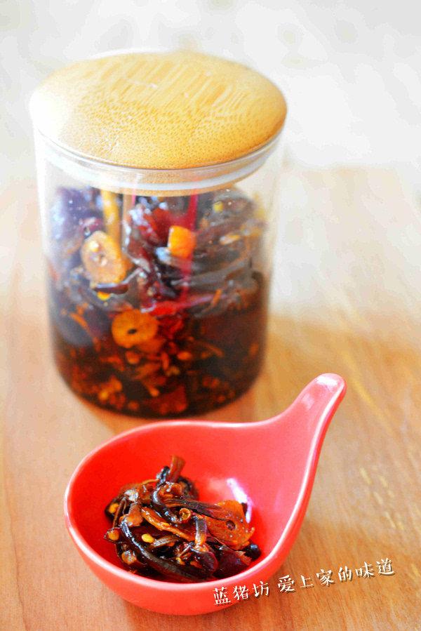 自制油鸡枞 营养拌饭菜