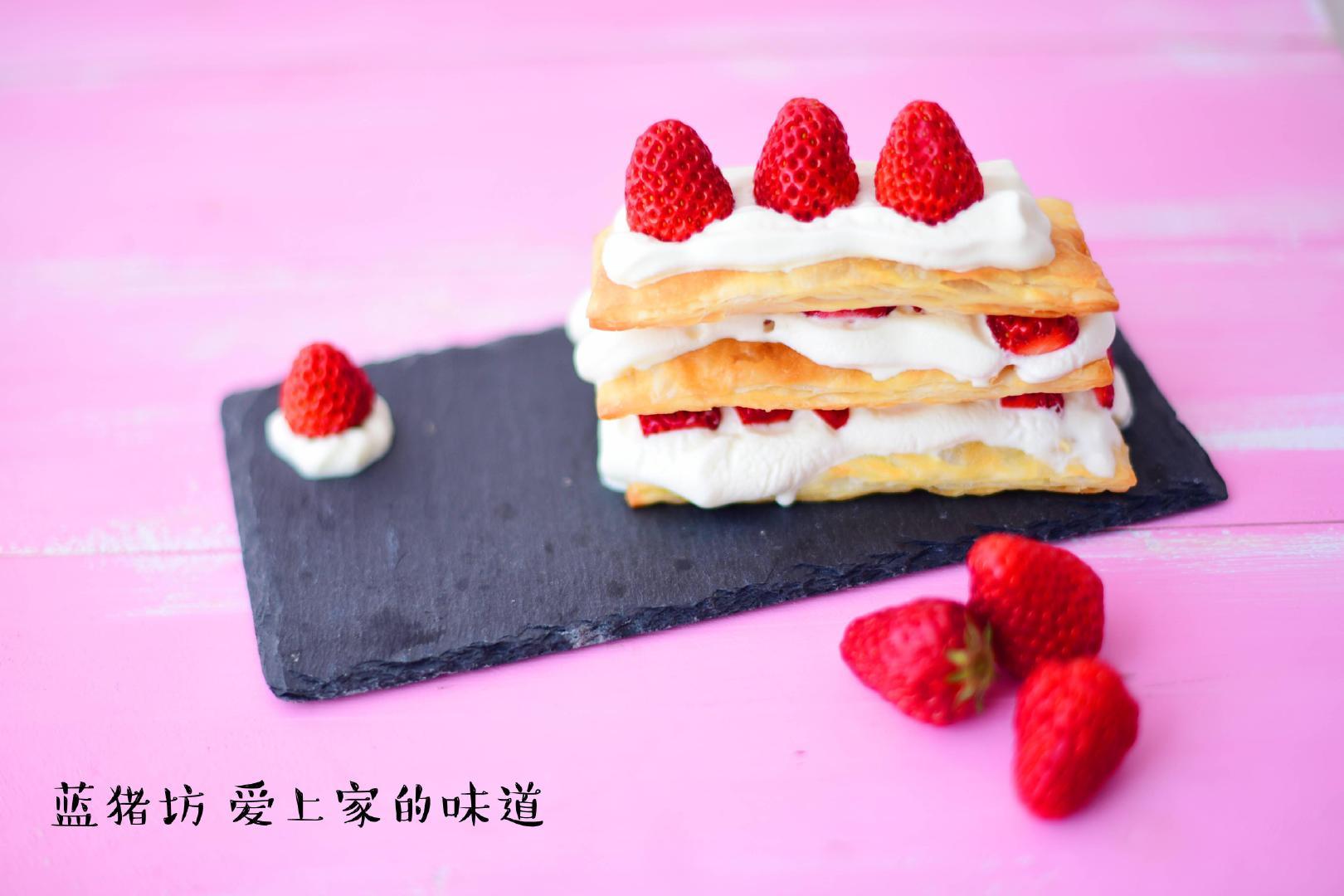 超好吃拿破仑蛋糕,手把手教你做,放上水果更好吃