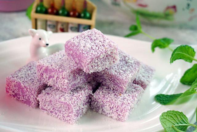 紫薯做甜品,颜色诱惑你,口感馋到你,半小时搞定