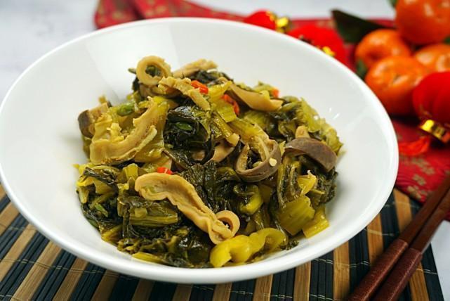 酸菜炒猪肚:不放盐的这道少油快手菜,放心吃不长肉