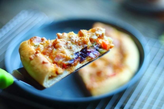 早餐给家人来份田园时蔬披萨,孩子夸太好吃,明天还要再吃!