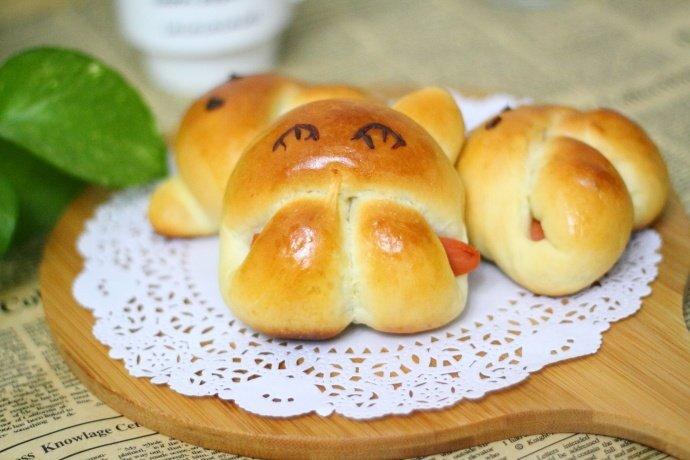 萌萌的小兔子面包,让孩子们爱不释手
