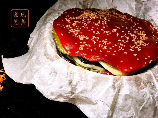七彩年糕和芋头糕的做法
