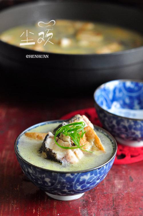 味道鲜美的秋季滋补汤—-黑鱼豆腐汤