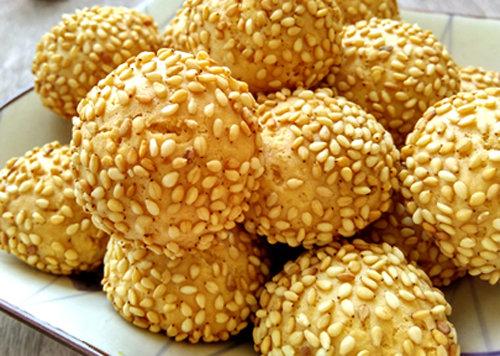 自制宝宝烘焙小零食 老北京开口笑 香甜美味 口口酥脆 做法超简单