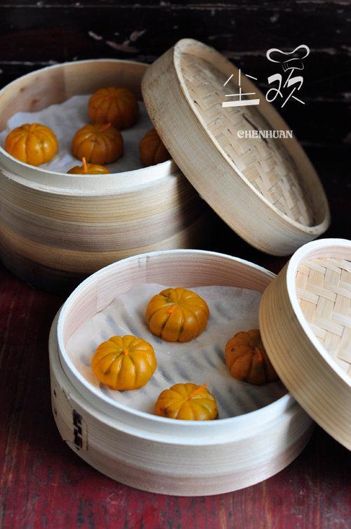 造型可爱,软糯香甜—-糯米南瓜饼