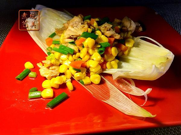 玉米鸡丁:粒粒饱满,香甜软嫩