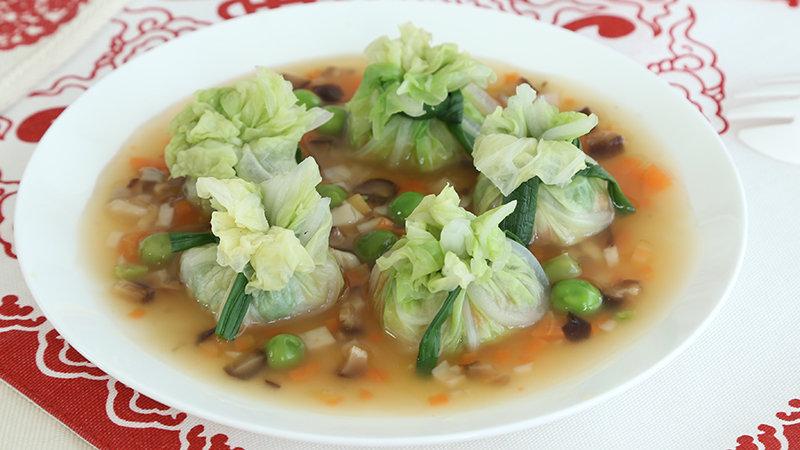 碧玉白菜福袋:纯素辅食,味道出奇的赞呢!