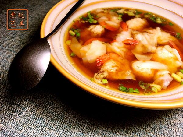 虾膏汤底馄饨