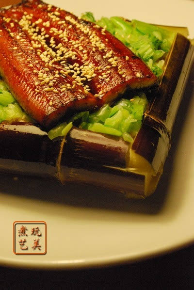 蔗香烤鳗红米飯