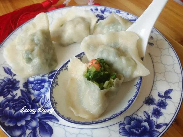 芹菜虾仁水饺