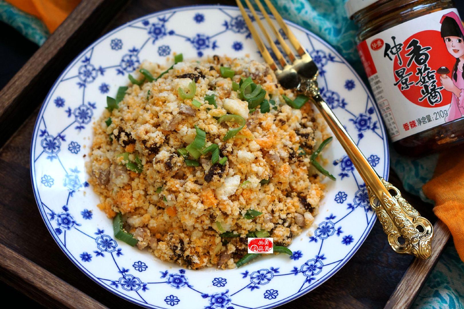 变废为宝肉丁炒豆渣,富含膳食纤维,降低胆固醇,还有减肥的功效