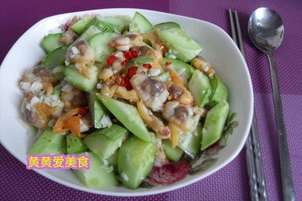 海边男人超爱的下酒菜:蛤肉拌黄瓜