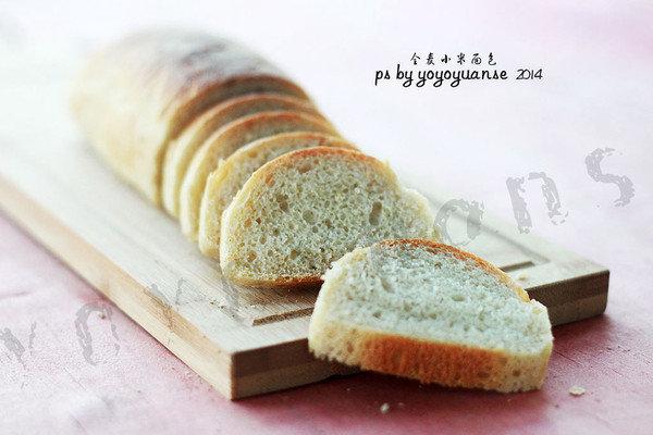 #拉歌蒂尼菜谱#健康无油无糖——全麦小米面包