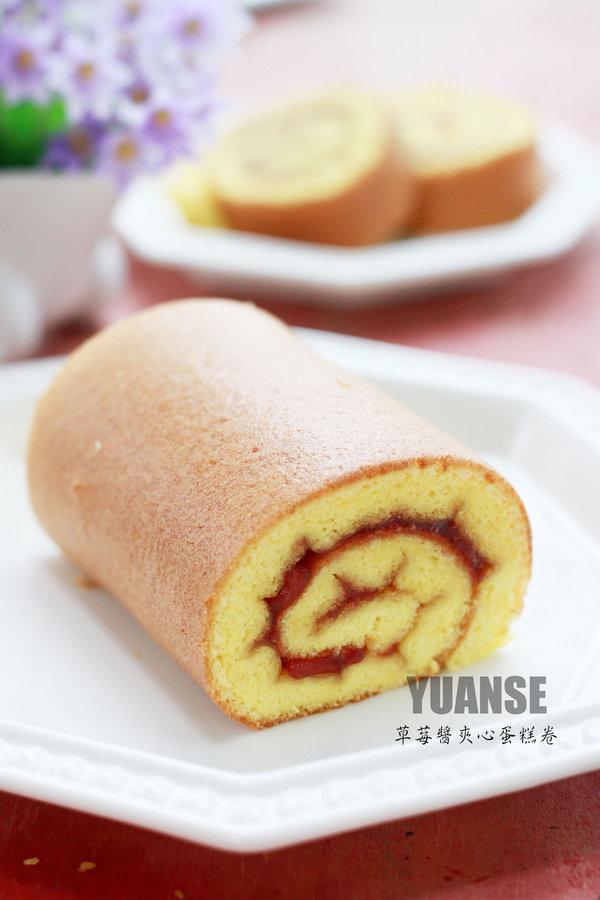【消夏】传说中的小四卷——草莓酱夹心蛋糕卷