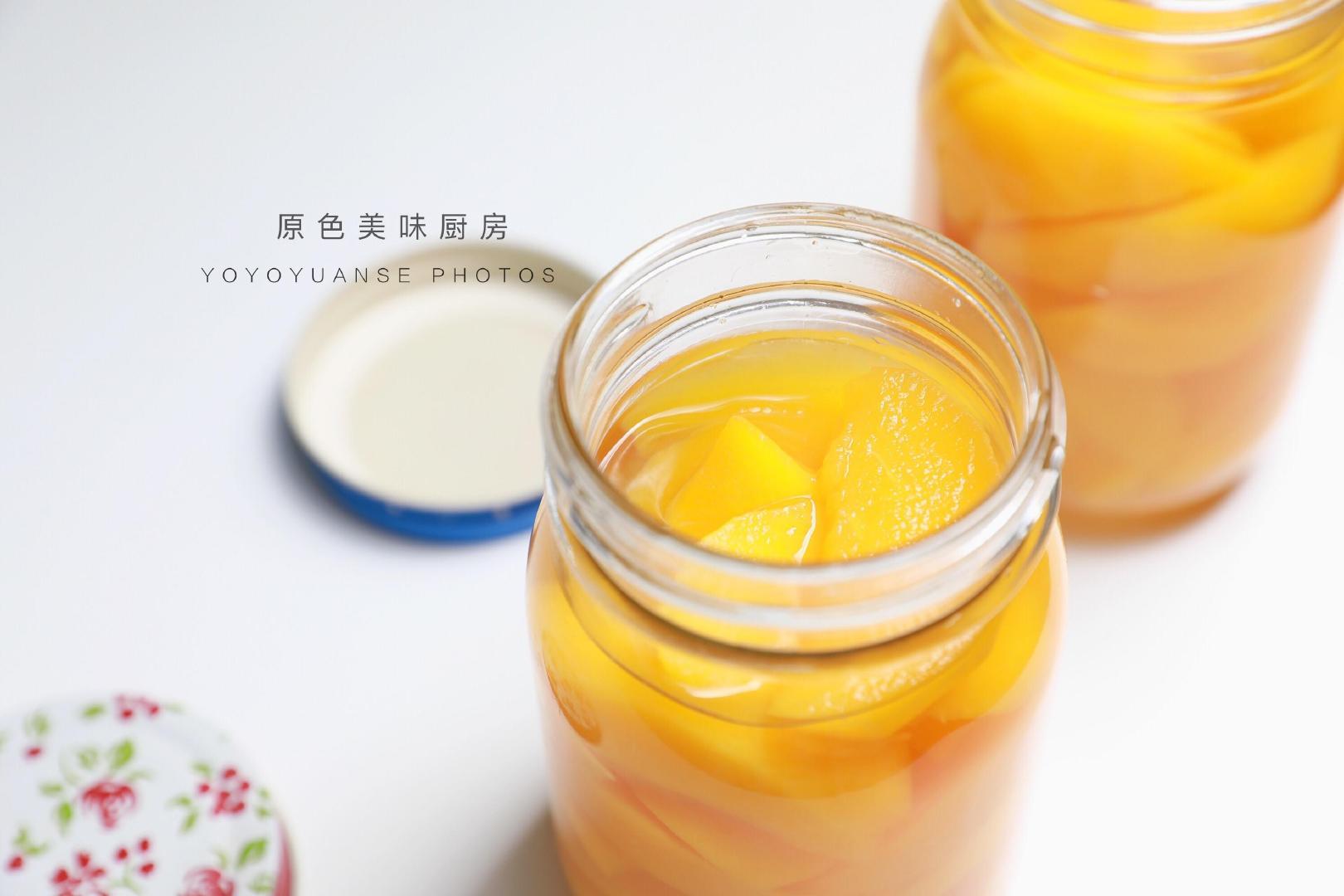 想吃黄桃罐头不用买,简单3步就搞定,零添加更健康