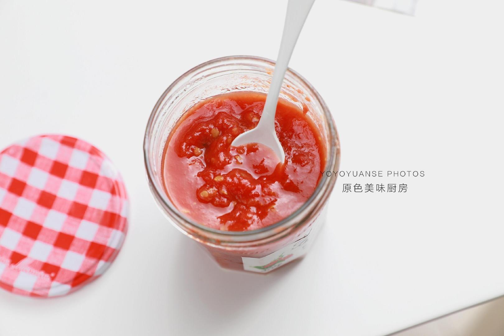 自制无添加蕃茄酱,酸甜可口又开胃,做法特别简单
