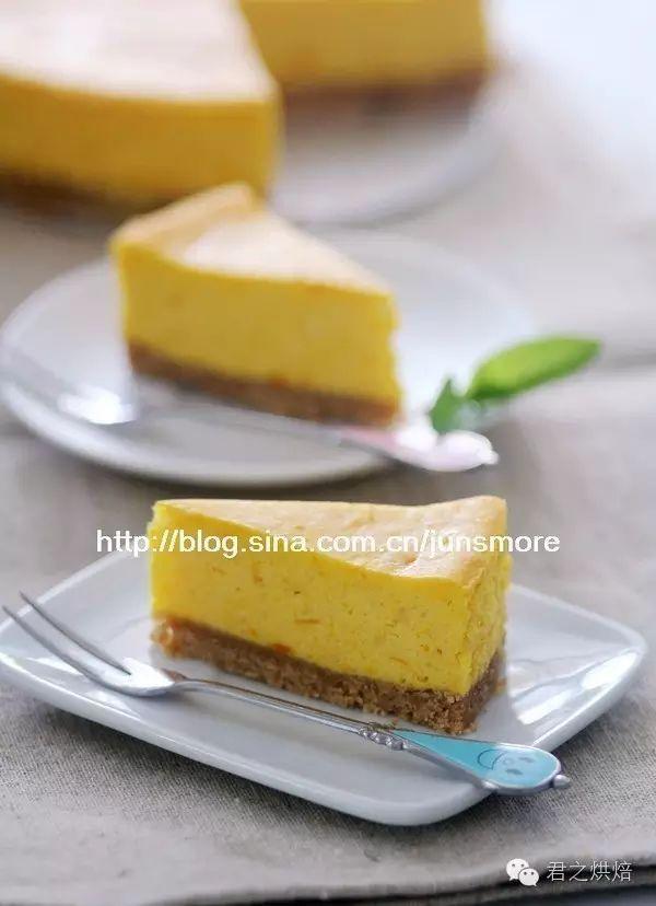 南瓜味的芝士蛋糕,金灿灿好美味!
