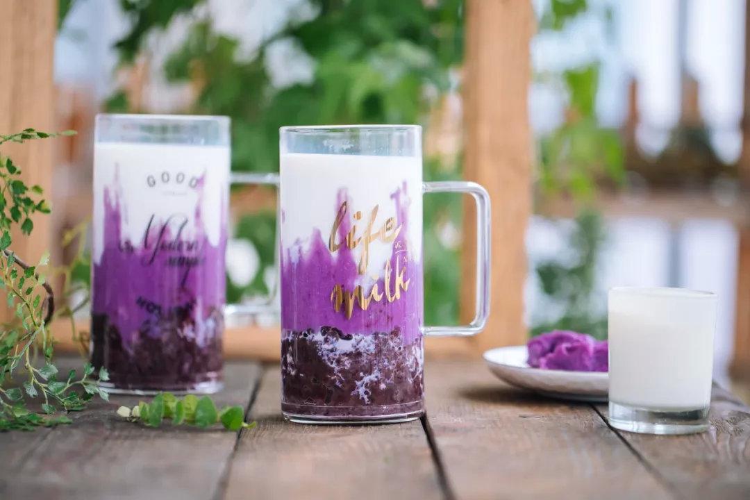 紫薯芋香牛奶杯