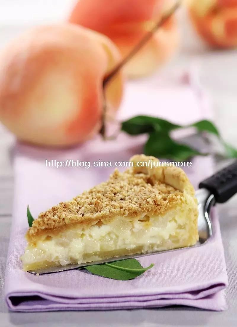 新鲜蜜桃正当时,来做一款鲜奶油蜜桃派吧