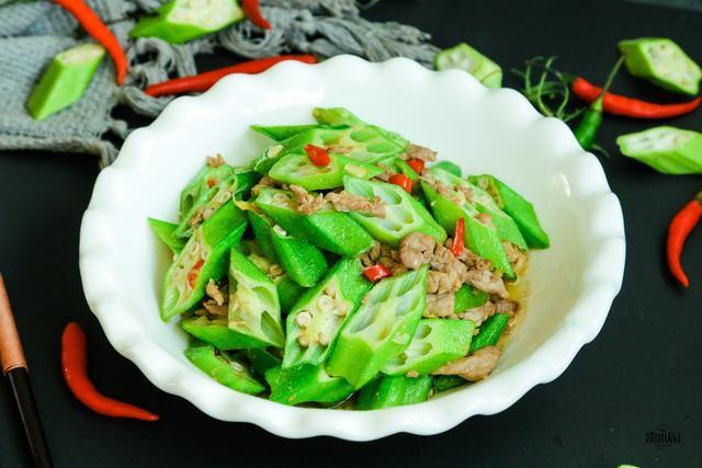 秋葵炒肉:秋天多吃这道菜,体重悄悄降下来