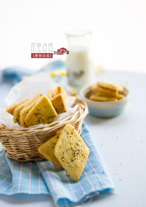 【玄米茶酥饼干】清香雅致的休闲点心