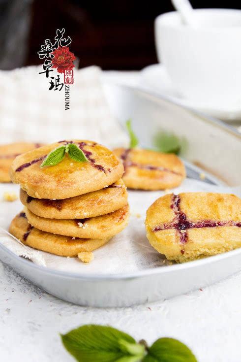 蓝莓果酱小酥饼:适合带上去春游的小点心