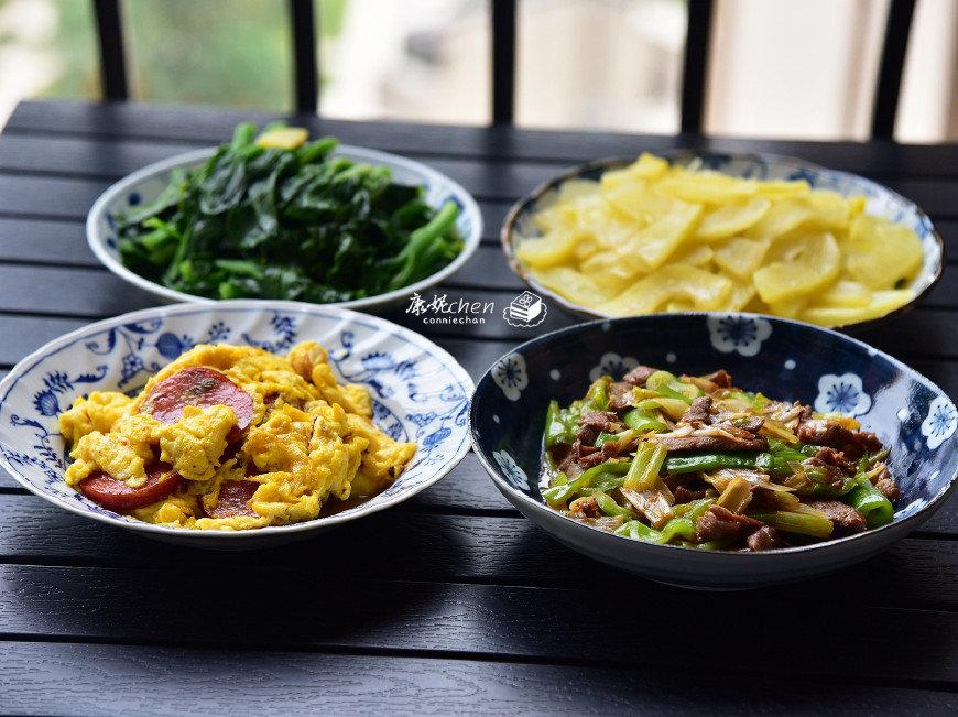 三人的晚餐,4道好吃的家常菜,花了不足30元,一家人吃得很满足