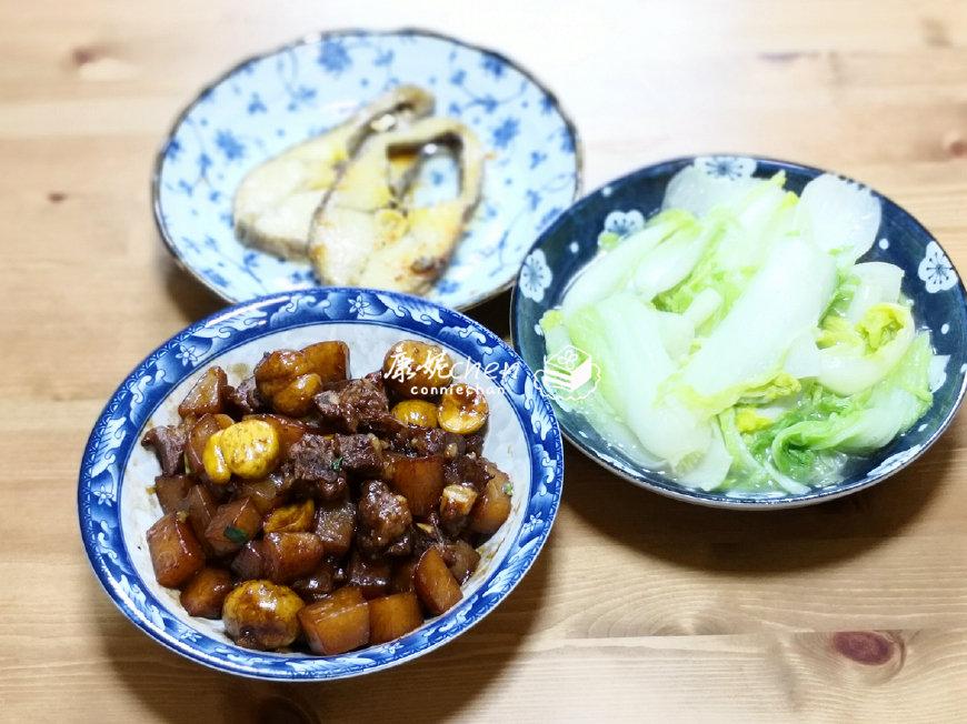 冒着狂风暴雨买菜做饭,夫妻俩人的晚餐,3道家常菜,简单的幸福