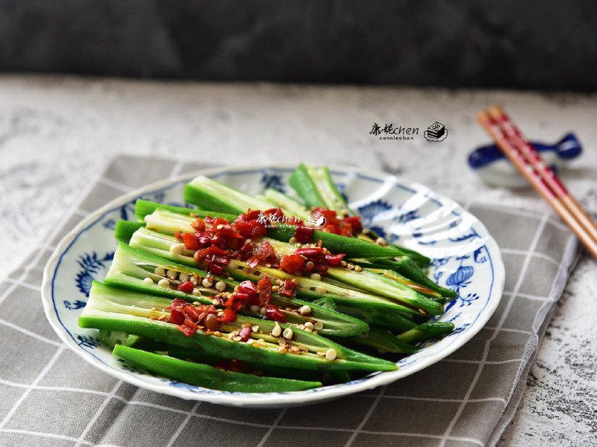 夏天,秋葵就要这样吃,简单拌一拌,很好吃,清热解毒,润肠通便