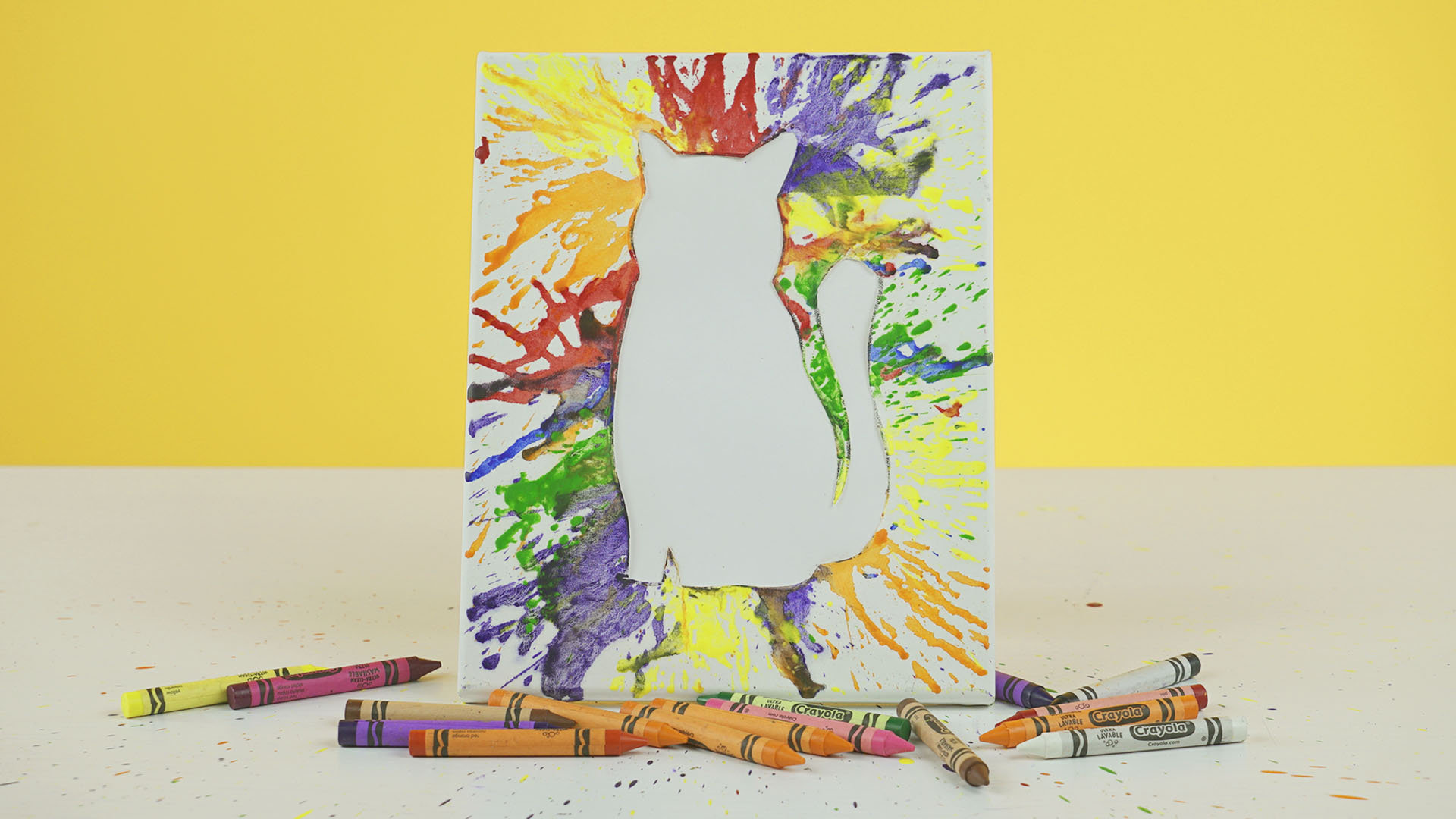 蜡笔的3种奇妙玩法,童趣到创意!