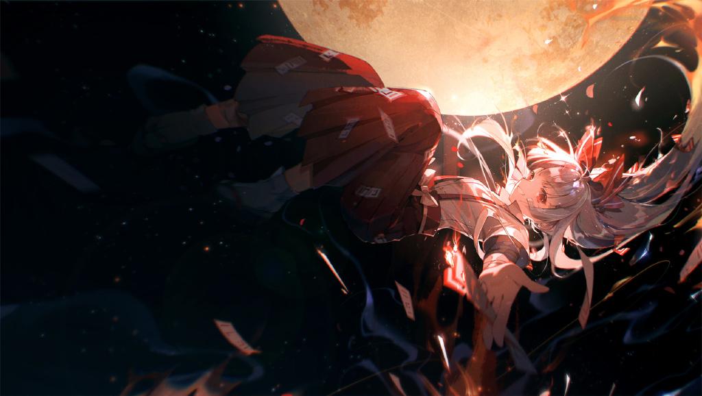 【P站美图】白发红瞳不死少女!《东方Project》藤原妹红壁纸特辑- ACG17.COM