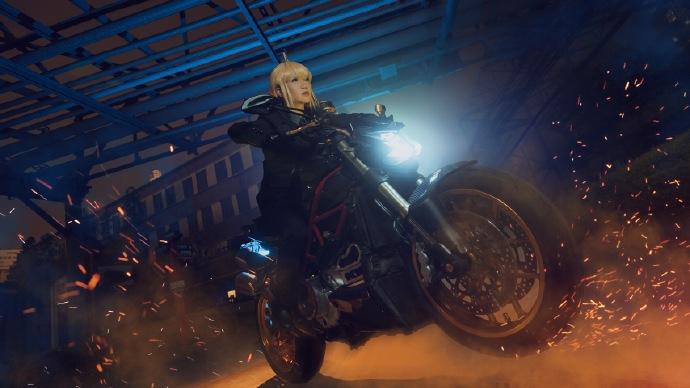 【cos正片】Fate/Zero saber黑西装cos欣赏 cn:寒殇 cosplay-第7张