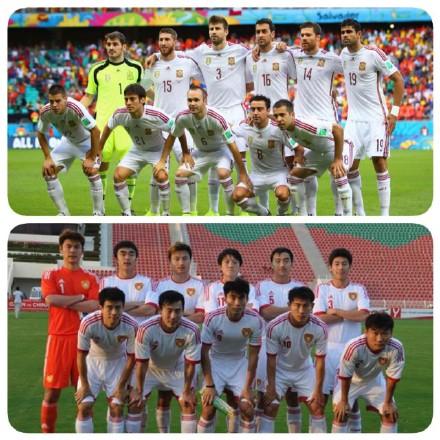 对于西班牙的大比分失利,西班牙国内足球专家分析,主要是因为本场比赛西班牙队服与02年中国队太像!