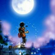 我们未知那天所见月空里的少年名微博照片