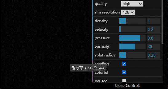 超炫酷的在线解压网站:Webgl Fluid Simulation