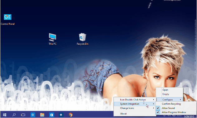 Windows 10 用户呼吁回收站可放任务栏托盘的照片 - 1