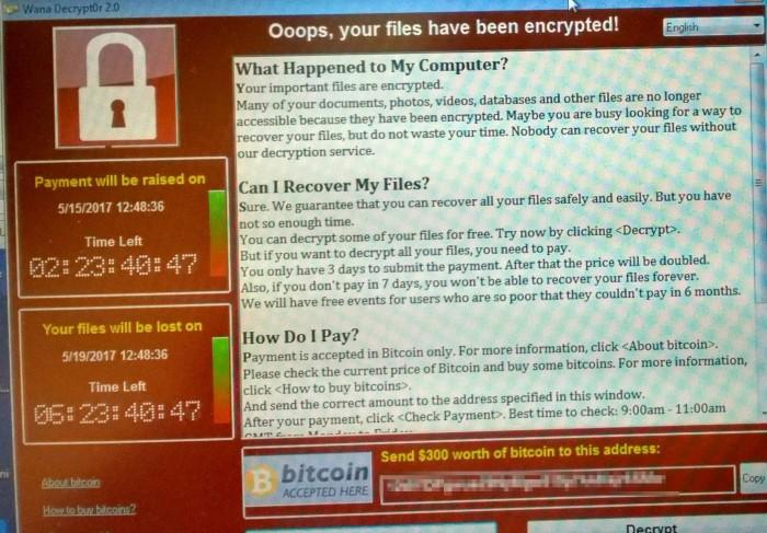 wana Decrypt0r 2.0 勒索软件爆发 注意安装KB4012215补丁的照片 - 3