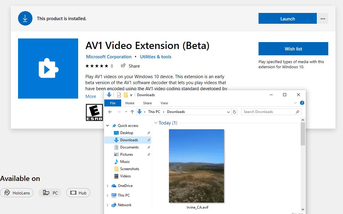 微软正在为Win10添加对AVIF图像的支持的照片 - 1