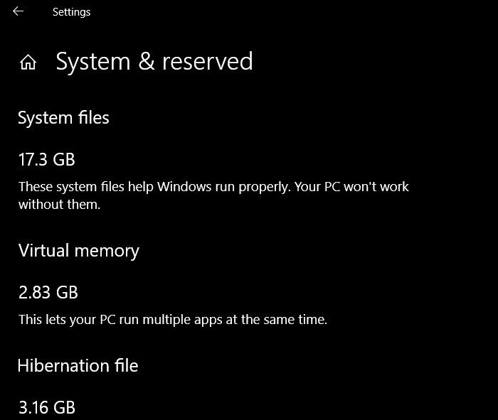 Win10将保留7GB的磁盘空间的照片 - 3