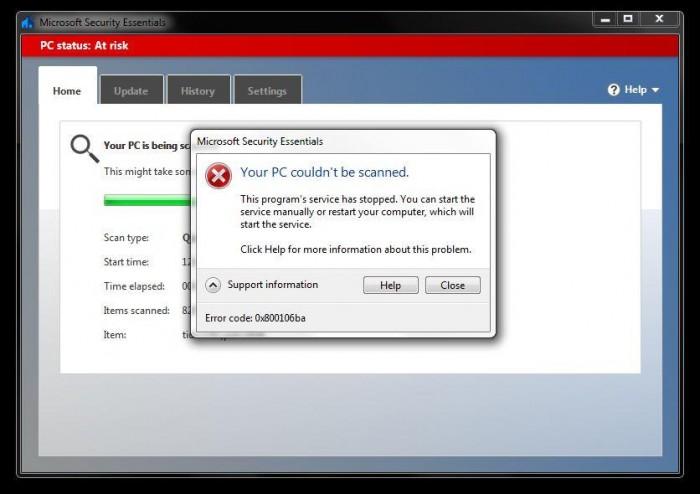 微软升级病毒库导致Win7/8.1端Defender无法正常工作的照片