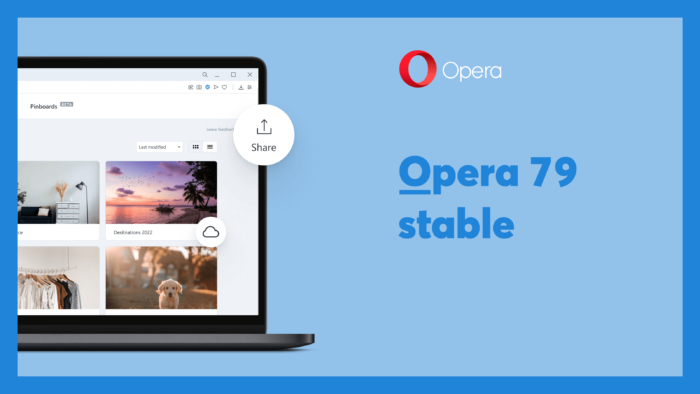 Opera 79稳定版发布 支持Pinboards保存在本地