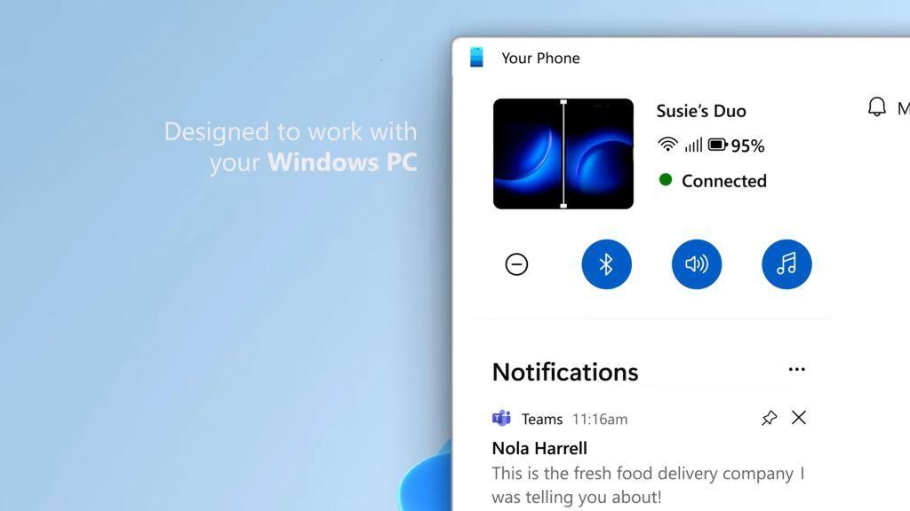 Windows 11将重新设计Your Phone:重点改进通知中心