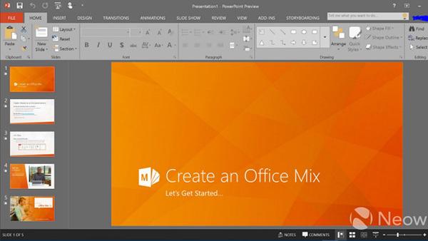 Office 2016最新测试版截图公布的照片