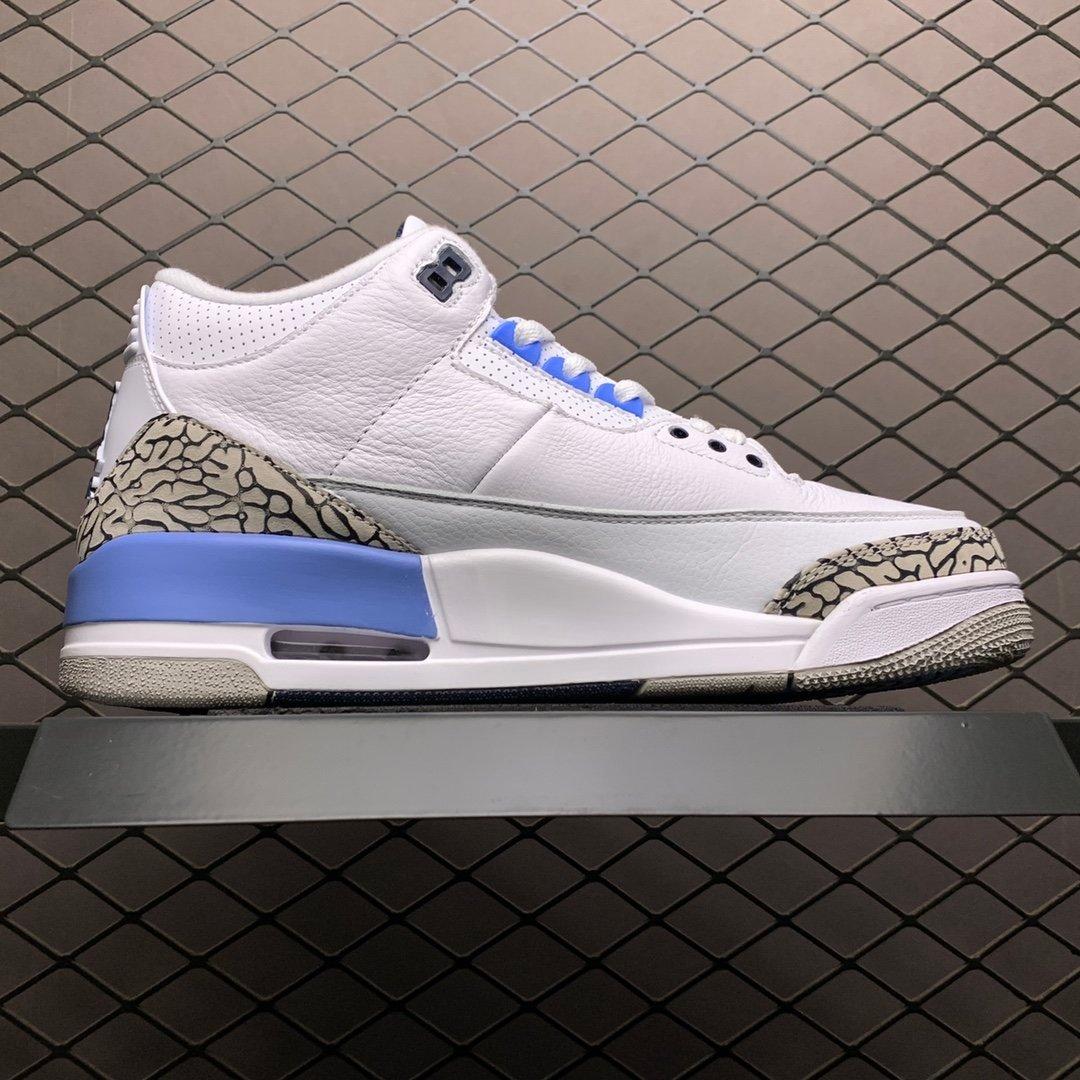 耐克乔丹 AJ3北卡蓝大学 CT8532-104 AJ3莆田公司级高仿鞋